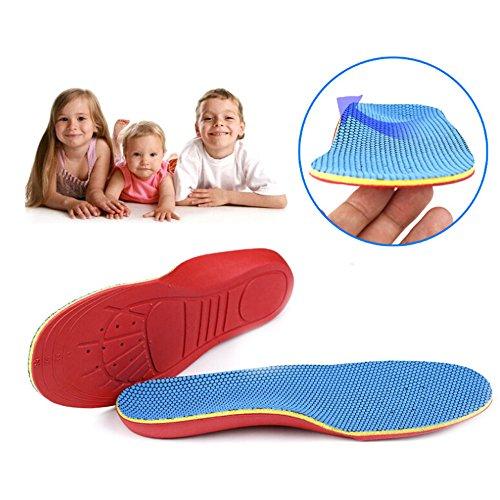 qiansheng Paar Volle Länge Einlegesohlen mit Arch Unterstützung flach Füße Plattfuß Korrektur Fuß Schmerzlinderung Schuh Einlagen für Kinder Kinder Füße, S: 24-27 size(15.5-17.7cm) (Voller Länge-unterstützung In)