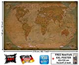 Foto mural map of the world - decoración Mapa del mundo histórico Globo Old school Antiguo Globus old map used look retro vintageI foto-mural foto pós