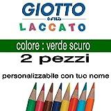 2crayons de couleur Giotto laqué mine 3,3mm Vert foncé Giotto laqué vrac