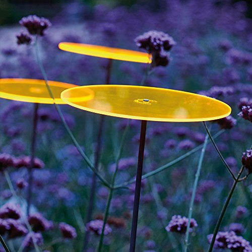 Cazador-del-sol ® medio | tres | 3 Stück Sonnenfänger-Scheiben gelb 1,20 Meter hoch - das Original -