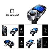 FM-Transmitter-VicTsing-Car-MP3-Player-FM-Transmitter-Bluetooth-Handsfree-Car-Kit-Wireless-Radio-Audio-Adapter-with-Dual-USB-5V-21A-USB-Charger-144-Inch-LCD-Display-35mm-Audio-Port-TF-Card-Slot-USB-Fl
