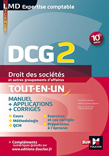 DCG 2 - Droit des sociétés et autres groupements d'affaires - Manuel et applications - 10e édition (LMD collection Expertise comptable) par Valerie Gomez-Bassac