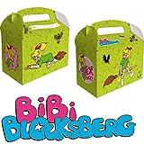 6 Geschenkboxen * BIBI BLOCKSBERG * für Kinderparty und Kindergeburtstag von DH-Konzept // Hexe Streiche Party Set Marita Florian Moni