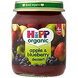 Hipp Organique Pomme Et Bleuet Le Dessert 4 + Mois 125G - Lot De 2