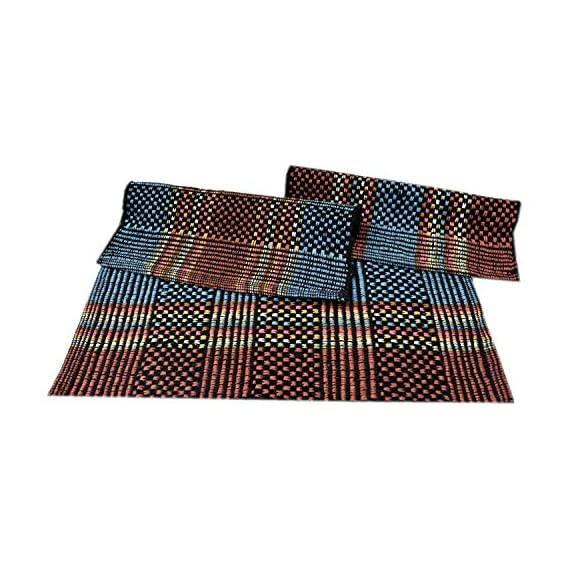 SHF Door Mats 100% Cotton for Home and Office, Set of 3 Piece 40x60 cm Multicolor
