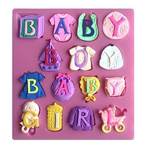 Jixing Baby Shower Silikon Fondantform Kuchen Dekorieren Schokolade - Shower Pops Cake Baby