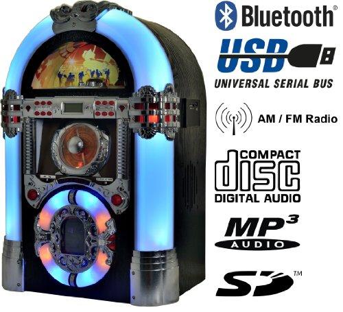 Jukebox Multimedia Musikbox Legend 501 Bluetooth, USB, SD, MP3 CD, Radio