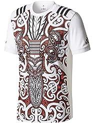 All Blacks Maori Nlle Zélande 2017 - Tshirt de Rugby Performance - Blanc/Noir