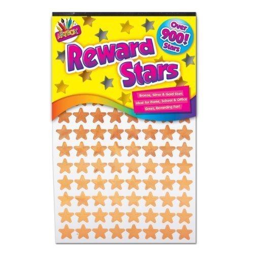 Schule, Stars (900x Reward Star Sticker Belohnungs Sterne Sticker Silber Gold Bronze Heim Schule Lehrer Gute Arbeit)