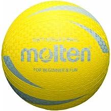 Molten S2V1250-Y - Pelota de dodgeball (21,0 cm), color amarillo