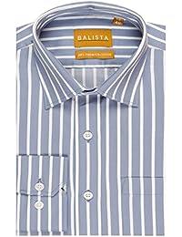 BALISTA Men's BOLD GREY STRIPE FORMAL SHIRT