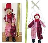 Holz Marionette Puppe Clown Kasperl 35cm Marionette Kasperletheater Kasperle Handpuppen von MEIERLE & Söhne