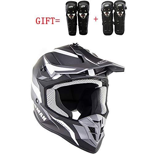 MMGIRLS Casco Moto da Equitazione Junior Cross-Country Helmet (Casco, Ginocchiera, Gomito, 5 Pezzi) Certificazione ECE,M