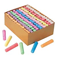 K&K Express Goods Giant Box of 126 Non-toxic Jumbo Sidewalk Chalk Sticks 3.5KG Big Box
