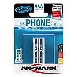ANSMANN Micro AAA DECT Akkus 850mAh maxE ready2use HR03 NiMH 1.2V (2er Pack)