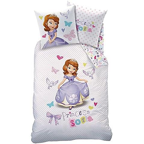 Juego de sábanas de invierno Disney Sofía la Primera, 135x 200cm + 80x 80cm, franela/franela