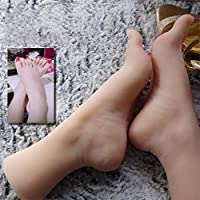 YH-feet Mannequin Foot, Silica gel foot Manikins 1 Pair Silicone Lifesize Girl Mannequin Foot Display Jewerly Sandal Shoe Sock Display