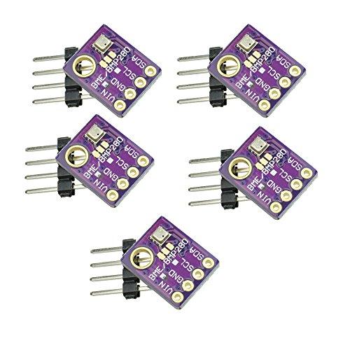 GY-bme280 High Precision Digital Sensor barometrischer Druck Temperatur Luftfeuchtigkeit und Luftdruck Modul Board für Arduino Raspberry Pi DIY I2 C SPI 5V (5PCS) -