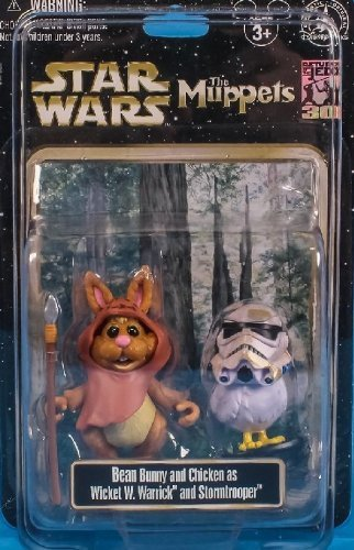 Disney Star Wars Weekends 2013 Muppets Bunny Bean and Camille as Wicket the Ewok and Stormtrooper Action Figure - Exclusive Limited Edition by Disney