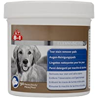 8in1 Augen-Reinigungspads (für eine wirkungsvolle und schonende Reinigung, speziell für die Augenhygiene bei Hunden entwickelt), 1 wiederverschließbare Dose (90 Stück)