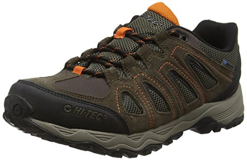 Hi-Tec Signal Hill Waterproof, Scarpe da Arrampicata Basse Uomo, Marrone (Dark Chocolate/Dark Taupe/Burnt Orange 041), 46 EU
