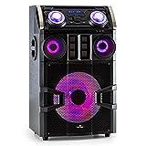 Malone Big Party 1500 Mobile PA Anlage PA-Lautsprecher (150 Watt RMS, Bluetooth, Lichteffekte, Bassreflexgehäuse, umfassende Anschlussmöglichkeiten, Karaoke-Funktion) schwarz
