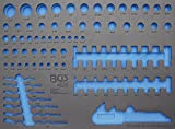 BGS 3/3 Werkstattwageneinlage für Steckschlüsseleinsätze / Maulringschlüssel, leer, 4020-5