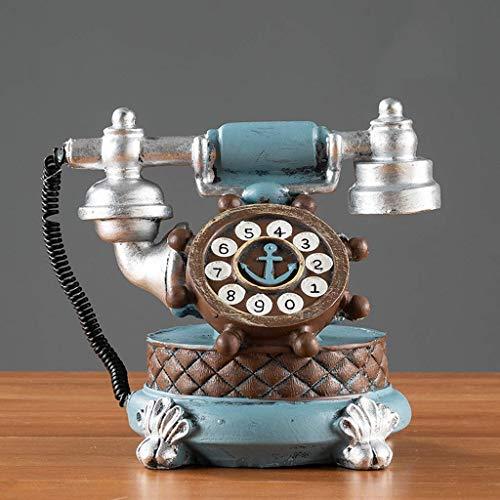 Amerikanische Antike Möbel (BAIF Gesundheit UK Telefon-Europäischen Stil Wohnzimmer Schlafzimmer Dekoration, Amerikanischen Retro Telefon Modell Kleine Möbel Willkommen (Farbe: C))