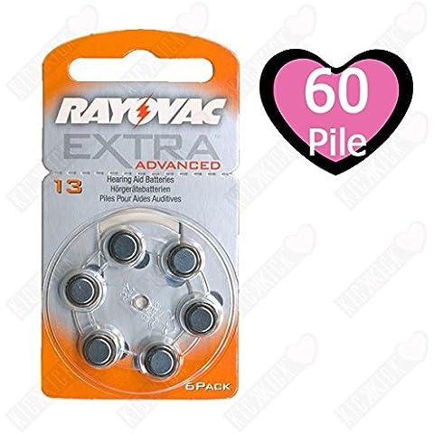 Rayovac Extra HA13, PR48, 4606 hearing aid batteria 60 pcs.
