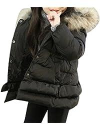 Abrigo para bebé con pelo en capucha,Yannerr Chica niñas niños Invierno algodón caliente encapuchado Chaquetas ropa