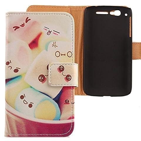 Alcatel Ot 997d - Lankashi Etui Housse Cuir Coque Case Cover