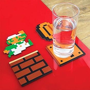 Set of 20 Super Mario Bros. Official Collectors Edition Drinks Coasters