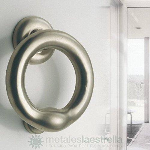 Metalle der Stern Türklopfer Ring Messing Nickel matt. 135-mle030 -
