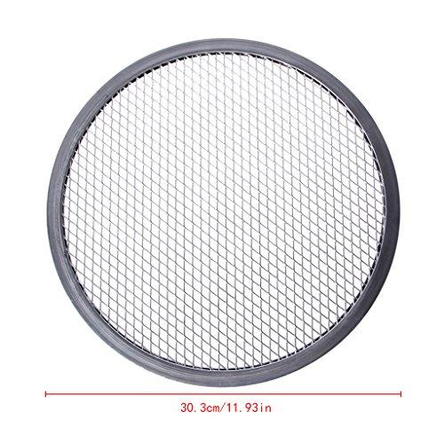 Dabixx Aluminium Mesh Grill Pizza Bildschirm Runde Backblech Net Küche Werkzeuge Öfen Kit-12