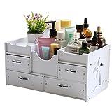 Li jing home Kosmetiktasche Aufbewahrungsbox Schubladentyp Aufbewahrungsbox Schmuckschatulle Veredelungsbox/Aufbewahrungsbox mit Schublade Großer Stauraum (Color : Weiß)