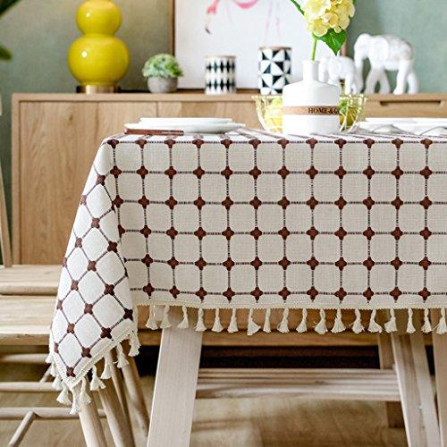 Nappes carrées nordiques Nappe carrée fraîche Nappes de table familiales douillette Minimaliste ( Color : Brown , Size : 85*85cm )