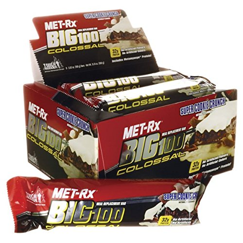 MET-Rx Big 100 Colossal Meal Replacement Bar Super Cookie Crunch 9/3.52 oz (100 grams) Bar(S) (Bar Super-cookie)