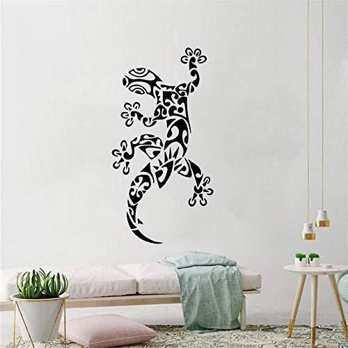 Zxfcczxf Tier Eidechse Wandtattoo Gecko Ornament Vinyl Wandaufkleber Dekoration Coole Tier Wand Poster Entfernbare Wandkunst