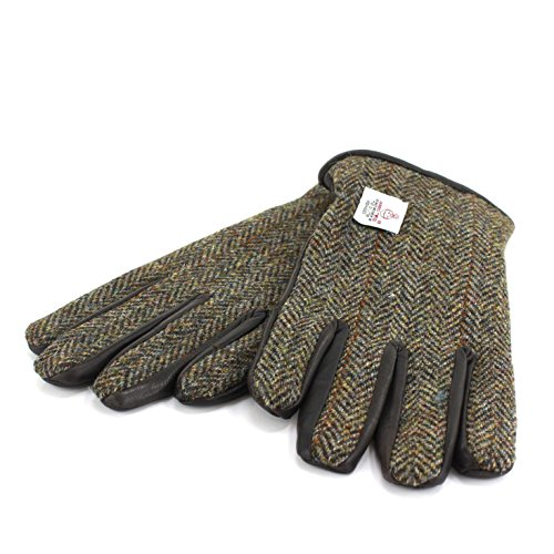 Harris Tweed Herren Handschuhe  Gr. Large, grün