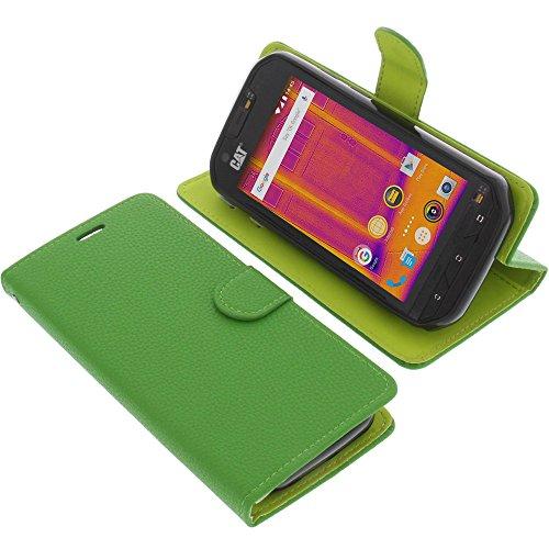 foto-kontor Tasche für CAT S60 Book Style grün Schutz Hülle Buch