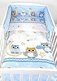BABYLUX Bettwäsche Bezug 2 Tlg. 100 x 135 cm Kinderbettwäsche Bettwäsche Bettset Babybettwäsche EULE