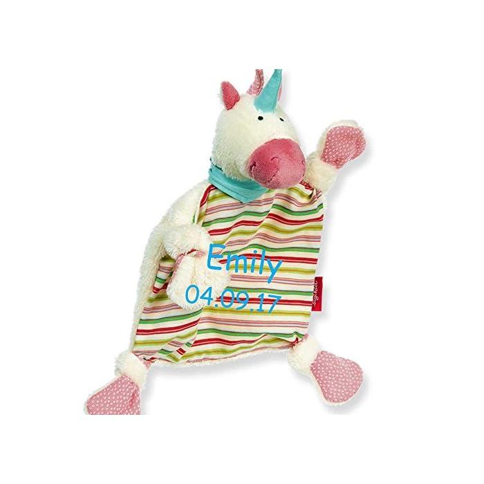 Sigikid Schmusetuch medium mit Namen bestickt Baby Geschenk zur Geburt Schnueffeltuch (Maus)