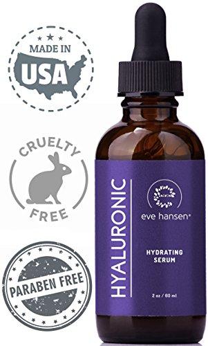 Eve Hansen Hyaluronsäure-Serum für Körperpflege, Gesichts- und Hautpflege, vegan, 2 Unzen (Durch Vitamin-c-reiniger)