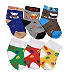 #7: Crux&hunter 6 pair cotton towel(winter) socks of baby boy's and girl's(Age group 0-12 months)