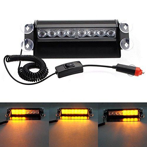 ILS - 8 LED Car Deck Dash Strobe Flash Warning Emergency Lights (Dash Emergency Lights)