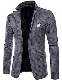 Suncaya Uomo Slim Fit Casual One Button Abiti Formali Giacca da Smoking  Blazer d Affari 678dc9c45a9