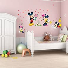 Oren Empower Famous Cartoon Large Wall Sticker For Kids (Finished Size On Wall - 120(W) X 75(H) Cm)