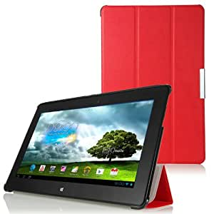 IVSO® Slim Smart Cover Housse pour ASUS MeMO Pad Smart ME301T Tablette (Rouge)