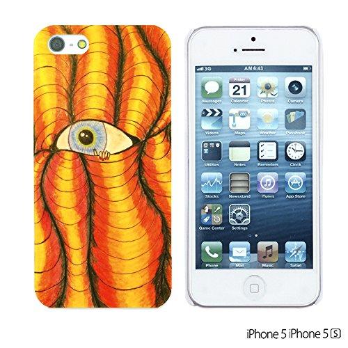 OBiDi - Funny Pattern Hardback Case / Housse pour Apple iPhone SE / Apple iPhone 5S / 5 - Graffiti Art Funny Eye