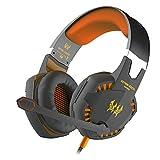 BenGoo EACH G2000Gaming-Headset / Stereo-Kopfhörer mit integriertem Mikrofon, 3,5-mm-Klinkenstecker, Rauschunterdrückung, Lautstärkeregler, LED-Beleuchtung, Sprachkontrolle, HiFi-Sound, Blau